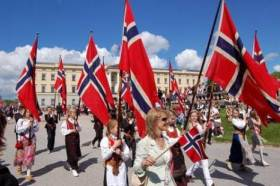 The 17th of May celebration at the Royal Palace in Oslo.