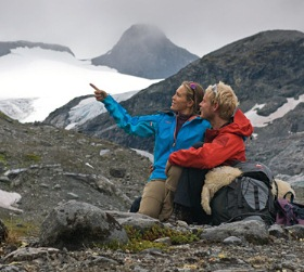 Tourists in Norway