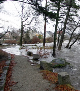Flooding caused by heavy rain and snowmelt has forced